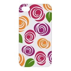 Colorful Seamless Floral Flowers Pattern Wallpaper Background Apple Iphone 4/4s Premium Hardshell Case by Amaryn4rt