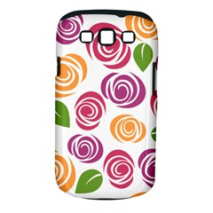 Colorful Seamless Floral Flowers Pattern Wallpaper Background Samsung Galaxy S Iii Classic Hardshell Case (pc+silicone) by Amaryn4rt