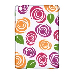 Colorful Seamless Floral Flowers Pattern Wallpaper Background Apple Ipad Mini Hardshell Case (compatible With Smart Cover) by Amaryn4rt
