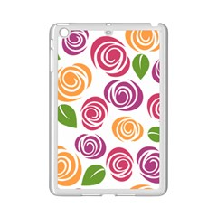 Colorful Seamless Floral Flowers Pattern Wallpaper Background Ipad Mini 2 Enamel Coated Cases by Amaryn4rt