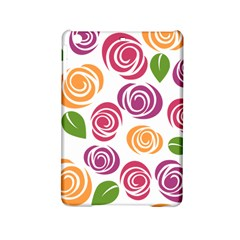 Colorful Seamless Floral Flowers Pattern Wallpaper Background Ipad Mini 2 Hardshell Cases by Amaryn4rt