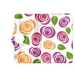 Colorful Seamless Floral Flowers Pattern Wallpaper Background Kindle Fire Hdx 8 9  Flip 360 Case by Amaryn4rt