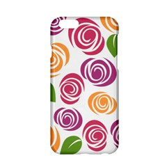 Colorful Seamless Floral Flowers Pattern Wallpaper Background Apple Iphone 6/6s Hardshell Case by Amaryn4rt