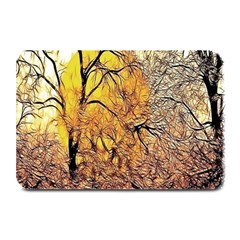 Summer Sun Set Fractal Forest Background Plate Mats by Amaryn4rt