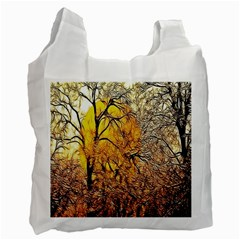Summer Sun Set Fractal Forest Background Recycle Bag (two Side)  by Amaryn4rt