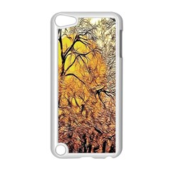 Summer Sun Set Fractal Forest Background Apple Ipod Touch 5 Case (white) by Amaryn4rt