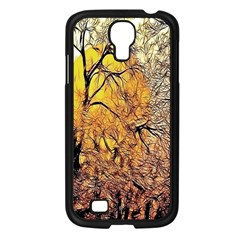 Summer Sun Set Fractal Forest Background Samsung Galaxy S4 I9500/ I9505 Case (black) by Amaryn4rt