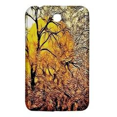 Summer Sun Set Fractal Forest Background Samsung Galaxy Tab 3 (7 ) P3200 Hardshell Case  by Amaryn4rt