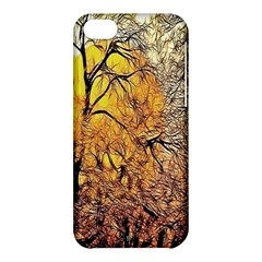 Summer Sun Set Fractal Forest Background Apple Iphone 5c Hardshell Case by Amaryn4rt