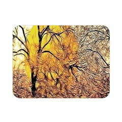 Summer Sun Set Fractal Forest Background Double Sided Flano Blanket (mini)  by Amaryn4rt