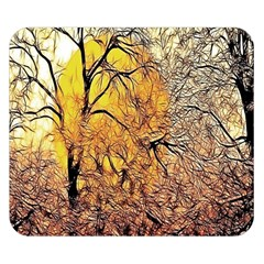 Summer Sun Set Fractal Forest Background Double Sided Flano Blanket (small)  by Amaryn4rt