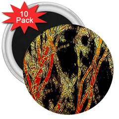 Artistic Effect Fractal Forest Background 3  Magnets (10 Pack)  by Amaryn4rt