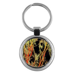 Artistic Effect Fractal Forest Background Key Chains (round)  by Amaryn4rt