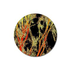 Artistic Effect Fractal Forest Background Magnet 3  (round) by Amaryn4rt