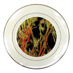 Artistic Effect Fractal Forest Background Porcelain Plates by Amaryn4rt