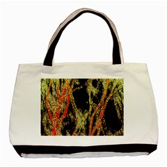 Artistic Effect Fractal Forest Background Basic Tote Bag by Amaryn4rt