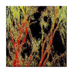Artistic Effect Fractal Forest Background Face Towel by Amaryn4rt