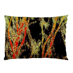 Artistic Effect Fractal Forest Background Pillow Case by Amaryn4rt