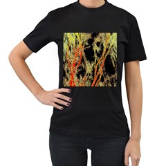 Artistic Effect Fractal Forest Background Women s T Shirt (black) by Amaryn4rt