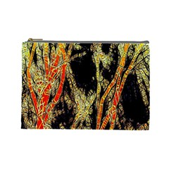 Artistic Effect Fractal Forest Background Cosmetic Bag (large)  by Amaryn4rt