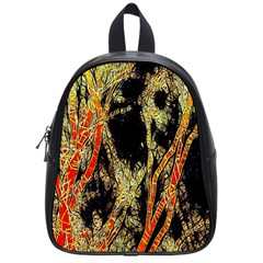 Artistic Effect Fractal Forest Background School Bags (small)  by Amaryn4rt