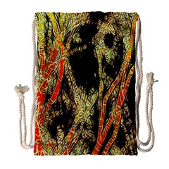 Artistic Effect Fractal Forest Background Drawstring Bag (large) by Amaryn4rt