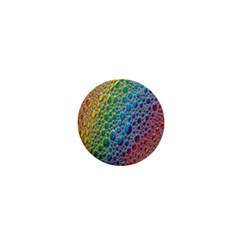 Bubbles Rainbow Colourful Colors 1  Mini Buttons by Amaryn4rt