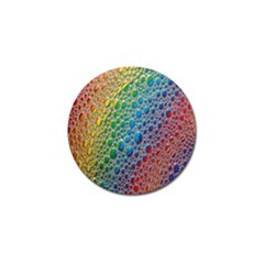 Bubbles Rainbow Colourful Colors Golf Ball Marker by Amaryn4rt