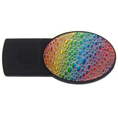 Bubbles Rainbow Colourful Colors Usb Flash Drive Oval (2 Gb) by Amaryn4rt
