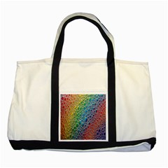 Bubbles Rainbow Colourful Colors Two Tone Tote Bag by Amaryn4rt