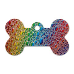 Bubbles Rainbow Colourful Colors Dog Tag Bone (two Sides)