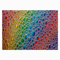 Bubbles Rainbow Colourful Colors Large Glasses Cloth (2 Side) by Amaryn4rt