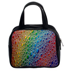 Bubbles Rainbow Colourful Colors Classic Handbags (2 Sides) by Amaryn4rt