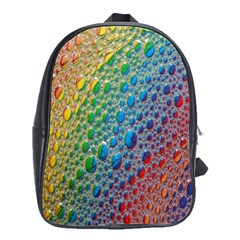 Bubbles Rainbow Colourful Colors School Bags(large)  by Amaryn4rt