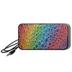Bubbles Rainbow Colourful Colors Portable Speaker (black) by Amaryn4rt