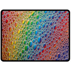 Bubbles Rainbow Colourful Colors Double Sided Fleece Blanket (large)  by Amaryn4rt