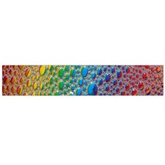 Bubbles Rainbow Colourful Colors Flano Scarf (large) by Amaryn4rt