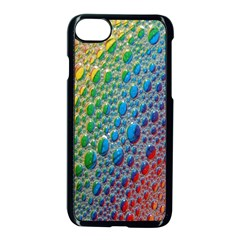 Bubbles Rainbow Colourful Colors Apple Iphone 7 Seamless Case (black) by Amaryn4rt