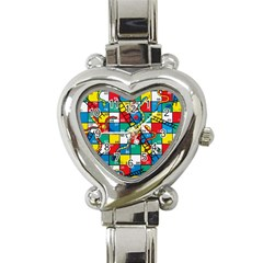 Snakes And Ladders Heart Italian Charm Watch by Amaryn4rt
