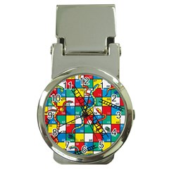 Snakes And Ladders Money Clip Watches by Amaryn4rt