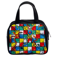 Snakes And Ladders Classic Handbags (2 Sides) by Amaryn4rt