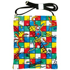 Snakes And Ladders Shoulder Sling Bags by Amaryn4rt