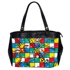 Snakes And Ladders Office Handbags (2 Sides)  by Amaryn4rt