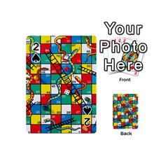 Snakes And Ladders Playing Cards 54 (mini)  by Amaryn4rt