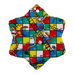 Snakes And Ladders Ornament (snowflake) by Amaryn4rt