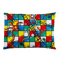 Snakes And Ladders Pillow Case (two Sides) by Amaryn4rt