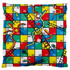 Snakes And Ladders Large Cushion Case (two Sides) by Amaryn4rt