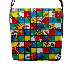 Snakes And Ladders Flap Messenger Bag (l)