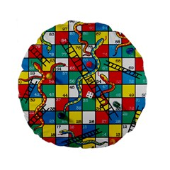 Snakes And Ladders Standard 15  Premium Flano Round Cushions by Amaryn4rt