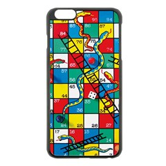 Snakes And Ladders Apple Iphone 6 Plus/6s Plus Black Enamel Case by Amaryn4rt